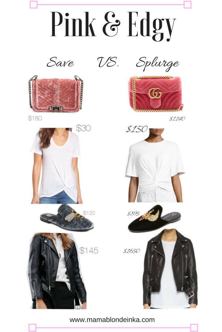 Pink and Edgy – Save or Splurge on Designer Looks