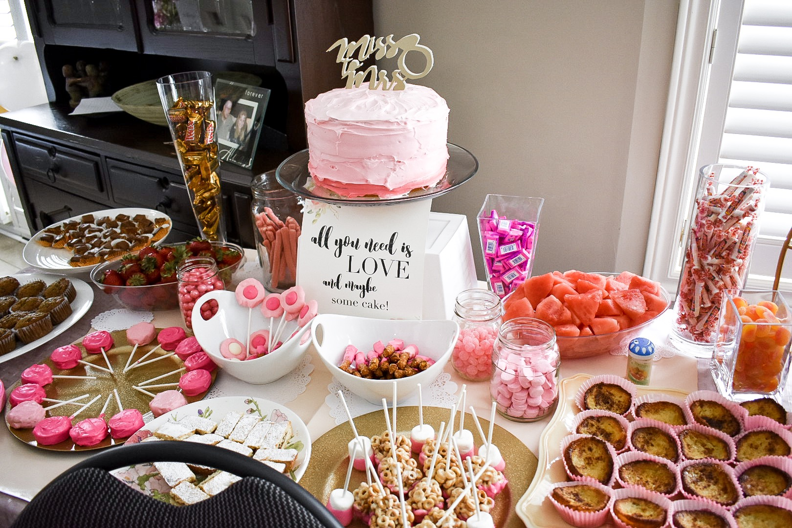 Pink and Gold Bridal Shower Ideas - Photo Booth, Cake and ...