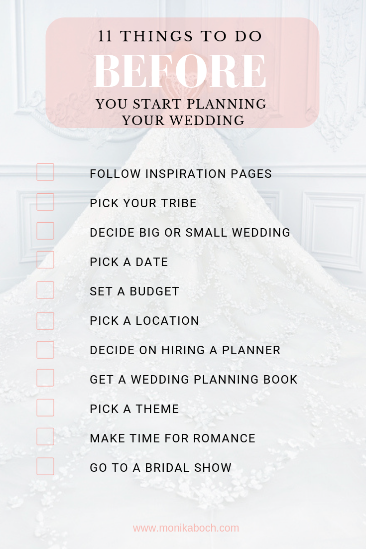 11 Things To Do Before You Start Planning Your Wedding
